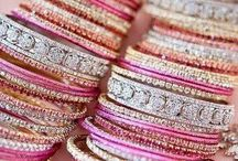 BRACELETS~*~ / Bracelets are my favorite jewelry item.  I love to shop for them, make them and wear them.  Jewelers say that we wear bracelets for ourselves because we see them all day but other jewelry is for those who look at us.
