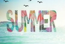 SUMMER~*~ / Summer brings us lazy days, fun in the sun and a break from the stress of school.  I decorate with flip flop photo frames holding memories of my son in past summers, flip flop candle holders and wooden beach signs.