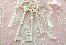 KEYS~*~ / I love the history, architecture and romance of old keys.  What special or secret or lovely things did they once unlock?  I wonder.