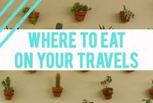 + Where to eat on your travels + / Top restaurants, cafes and delicious food to faceplant into on your next trip around the world. Where to eat, what to eat, and vegetarian food abroad.
