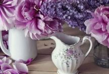 PURPLES~*~ / In its darker form purple is the color of royalty and in its pale shades it has a lovely calming effect.  I have always loved decorating with shades of purple and wearing it in fashion choices.