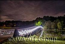 Night Shots - Greensboro, GA / Follow the Night Light