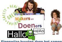 Makers en Doeners http://www.makersendoeners.net/ / Online en offline MeetUp voor Rotterdamse Doeners. Wij zijn groos op deze bruisende Doe-het-zelf-doe-het-samen- kanjers. Rotterdams trots. Nu doen we het anders. We doen het samen. Een in kaart gebrachte web van burgers en veel meer, die samenwerken en zo bruisende gemeenschappen vormen. Die niet langs de institutionele lijn werken maar de organische lijn volgen. Het hart en de passie van de stad Rotterdam. De Doeners.