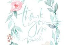 Thank You / Beautiful thank you cards