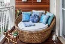 HOME  |  Balcony / Interesting ideas for balcony decor.