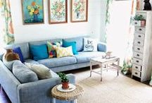 Living room ideas / Be inspired by the different designs and coloirs of living rooms