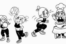 Tirinhas - Desenho - drawing / História em quadrinhos, desenhos e artes do mundo fitness