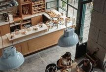 Stylish restaurants and coffees
