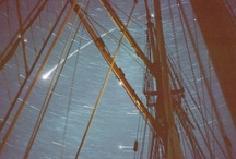 a star to steer her by / The Chesapeake Bay and the east coast of the US and Canada still see white sails against the darkening sky and hear the song of wind in the rigging, the creak and groan of wooden hulls riding the swells. You can set sail on a historic reproduction vessel, haul the halyards, brace the yards, steer with a 7 ft. tiller or sing bawdy sea shanties or learn pirate lore. Shout ARRRR and set sail me heaties... all photos by swordwhale, unless otherwise tagged.
