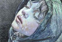 art: drawings & illustrations / by riaknits இ