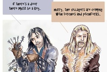 """Oakenshields: a celebration of (fictional) life! / A fanart celebration of the (offscreen, fictional) lives of Thorin Oakenshield and his nephews Fili and Kili (The Hobbit). Basically PG-13. For the stuff that requires a crate of Kleenex, see Oakenshields 2. """"Swordwhale"""" is my art."""