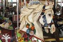 carousel horses and classic rockers / Carousel horses and classic rocking horses were carved by artists who lived among horses and knew them well. Here are a few of my favorites, both old and new.