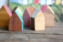 Little Wooden Houses / Deco Idea