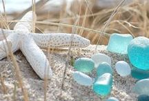 sea glass / Glass begins with fire and sand. Trashed, it's worn by sand and sunfire driven wind and tide into something new. Here's some ideas for seaglass (and other sea) projects.