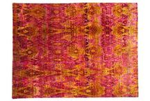 Sari Silk Rugs / These rugs have been hand made by the same sari silk used to weave woman's Indian Sari dresses. Its all about the COLORS!!