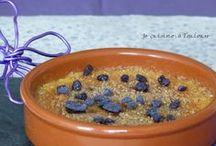 Mes desserts / Les desserts faits à la maison, et présentés sur le blog http://jecuisineatoulouse.blogspot.fr