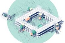 Archi Graphics (3D, Axonometric, Perspective, Infographics) / by Amir Ghaz