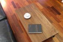 coffee table | オーダー家具 / ウォールナットの無垢材で作った coffee table シンプルでかつディティールにこだわって製作しています