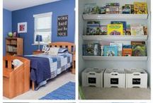 Organizing Kids / Get inspired here with different ideas to organize your child's room, organize toys, organize kids art supplies, playroom and kids stuff.