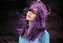 Hair- purple