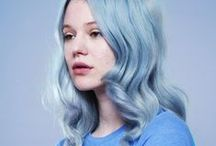 Hair- blue