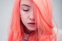 Hair- peach