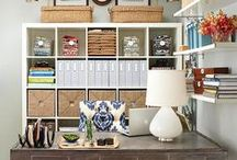 Home Office Ideas / Home office, work space and desk space ideas.  You will find inspiration to turn any room, area or closet into the working space or command center you are looking for.