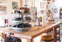 Studio and Craft Room Ideas / by Judi Churchill