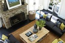 Living Room Design Ideas / From the simple and stylish to the grand and gorgeous. Plans for your next house, or plans for the house you wish you had.