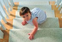 Kids 'n' Carpets / Little ones playing on carpets and rugs. Remember, it's important to deep clean your carpets regularly!