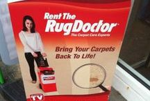 Rug Doctor on Display / Looking to try out our products? Here's what to look out for.