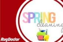 Spring Cleaning / Spring is here and it's time to put on your rubber gloves! We've pinned cleaning tips and tricks to get your home fresh as a daisy.