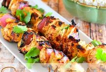 Skewers and BBQ Recipes / We love these skewer recipes for the bbq.  This board also has other bbq recipes like bbq steak, bbq pork, bbq sauce, bbq side dishes, easy bbq recipes, and more...