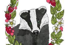 badger / Барсуки игрушки и картинки