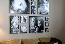 Фото в интерьере / Варианты размещения картин в интерьере