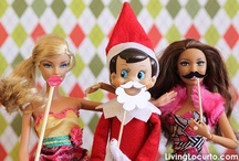 Elf on the shelf / Fun ideas for Elf on the shelf during the days before Christmas.