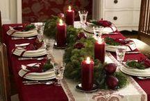 Christmas elegant table