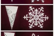 Crafts  Paper, paper crafts, snowflakes etc
