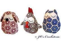 crochet african flower toys