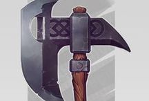 Prop / Melee Weapons / Concept, photo and 3D references of melee weapon.