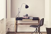 Studio // Office // Workspace / furniture, layout, ideas, storage, art...for my studio/office / by sarah helen parker - masse
