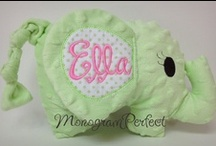 For the love of Babies... / I love all things cute when it comes to finding that perfect baby gift. But of course, that truly perfect baby gift comes with monogramming!