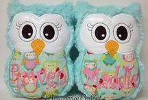 """Owl Reading Buddies / This owl was created as a """"Reading Buddy"""" for my daughter. I found she was reading more expressively when she was """"teaching"""" her stuffed animals. I decided I wanted to create something fun & colorful she could read to & that she could cuddle also. Maybe your little one would like one too. It has an hourglass shaped figure, which makes it great for little hands to hold. It's big eyes are bright and ready to be read to by your little one.  Gift with your child's favorite book! Size: 8.5"""" x 6.5"""""""
