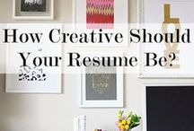 Resumes for Creative Fields / This pinboard contains informative sites that contain information for creating resumes if you are applying to jobs in the 'creative' realm