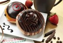 Chocolate / Delight in the darker side of chocolate with an assortment of irresistible new dark chocolate treats. http://www.krispykreme.com/doughnuts / by Krispy Kreme