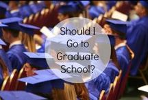 Thinking about Grad School? / Are you thinking about going to Grad School?  Here are some tips and suggestions on how to navigate your way.