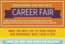 Fair Prep / Nervous about attending the Career Fair?  Not sure how to prepare, or what to say when approaching a recruiter?  This board contains great pins about how to survive the career fair and how to prepare for it.  Good luck!