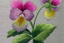 Broderies, embroidery / Une de mes véritables passions