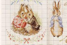 Point de croix. Cross-stitch / Chaque petites x est faite avec amour