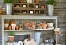 Table a rempoter, potting bench / Un endroit magique ou se prépare un beau jardin